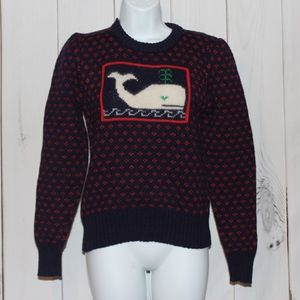 Vintage Whale Sweater XS